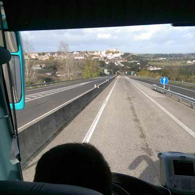 On the bus to Obidos