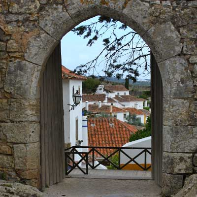 The side gate into Obidos