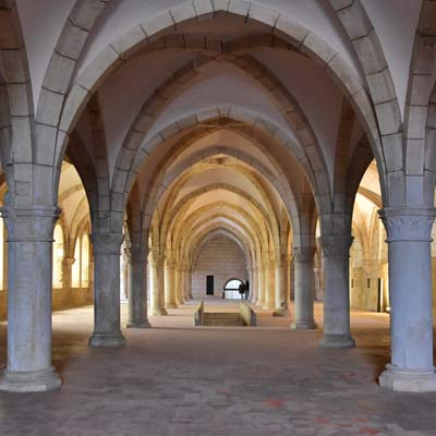 monks hall Alcobaça Monastery
