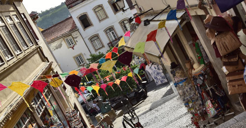 shopping streets of Coimbra