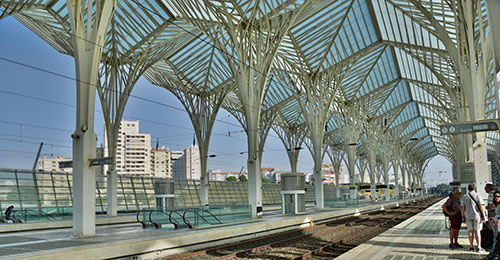 Oriente station in Lisbon