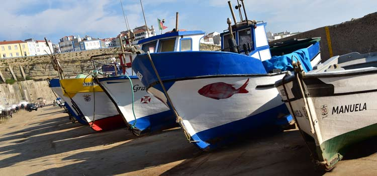 Ericeira portugal fishing boat