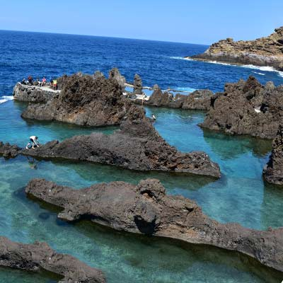 lava pools at Porto Moniz