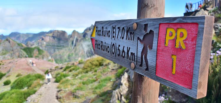 Madeira hiking routes